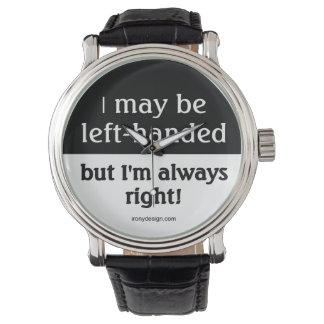 Gente zurda relojes