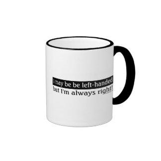 Gente zurda taza de café