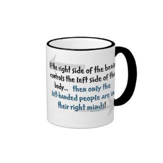 Gente zurda taza de dos colores