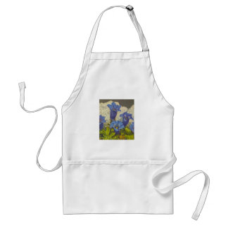 Gentian Flower Adult Apron