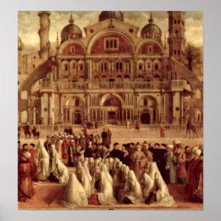 Gentile Bellini - St Mark in Alexandria Print