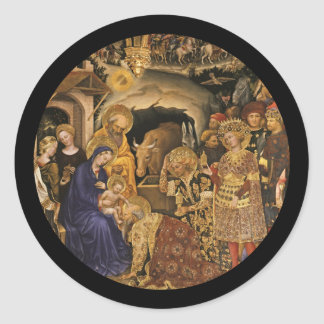 Gentile Dei Fabriano Adoration of Magi Classic Round Sticker