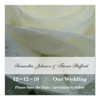 Gentle Angel White Rose Wedding Card