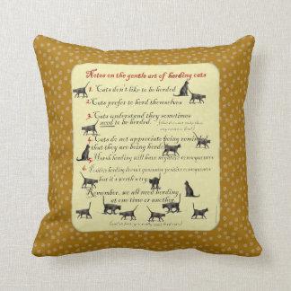 Gentle Art of Herding Cats Pillows