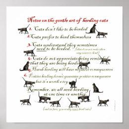 Gentle Art of Herding Cats Poster