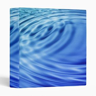 Gentle blue water ripples binder