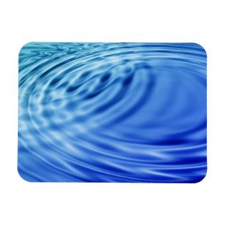 Gentle blue water ripples rectangular photo magnet