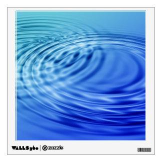 Gentle blue water ripples wall sticker