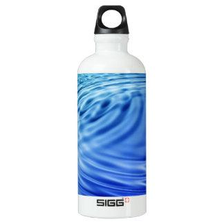 Gentle blue water ripples water bottle