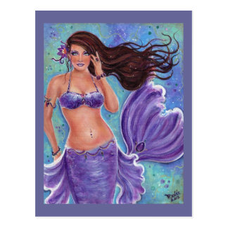 Gentle Breeze mermaid postcard By Renee L Lavoie
