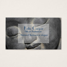 Gentle Buddha Face Stone Sculpture Business Card at Zazzle