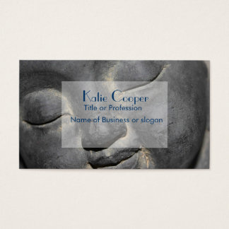 Gentle Buddha Face Stone Sculpture Business Card