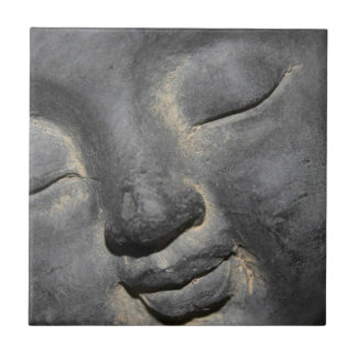 Gentle Buddha Face Stone Sculpture Tile