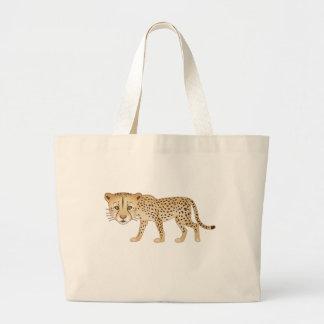 Gentle Cheetah Tote Bags