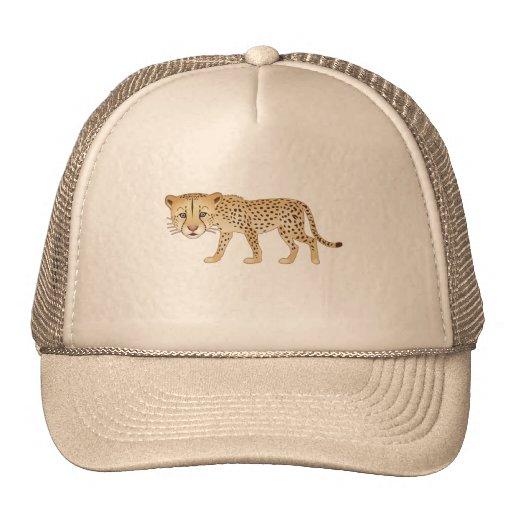 Gentle Cheetah Trucker Hats