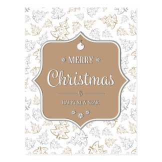 Gentle Christmas Trees Postcard