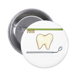 Gentle Dental- tooth mirror brush 2 Inch Round Button