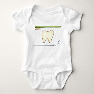 Gentle Dental- tooth mirror brush Baby Bodysuit