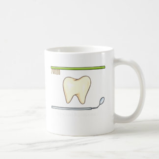 Gentle Dental- tooth mirror brush Coffee Mug