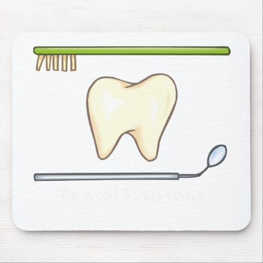 Gentle Dental- tooth mirror brush Mousepad