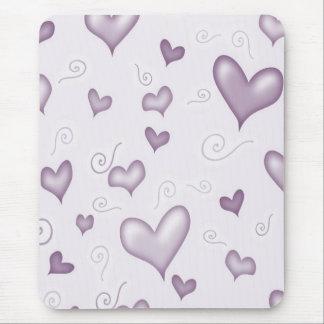 Gentle Elegant Hearts Mouse Pad