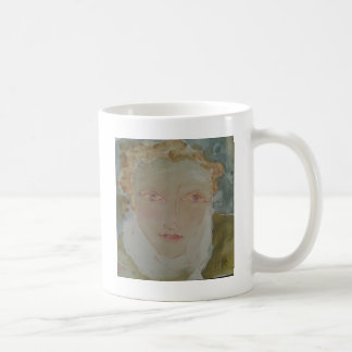 Gentle-Faced Woman with Red Hair. Coffee Mug
