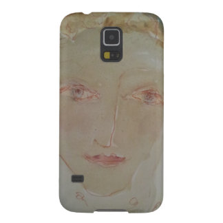 Gentle-Faced Woman with Red Hair. Galaxy S5 Cover