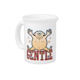 Gentle Fat Man Drink Pitcher