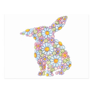 Gentle Floppy-Eared Bunny Postcards