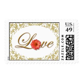 Gentle Floral Love Stamp