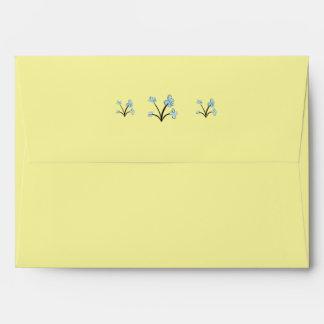 Gentle Florals envelope - pale lemon yellow