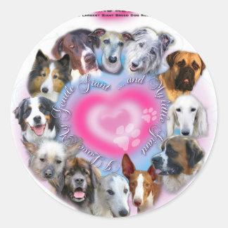 Gentle Giants Rescue Classic Round Sticker