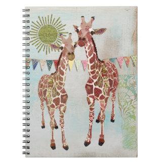 Gentle Giraffes Notebook
