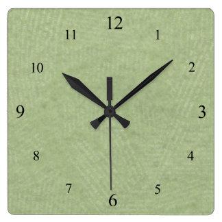 Gentle Green Clock