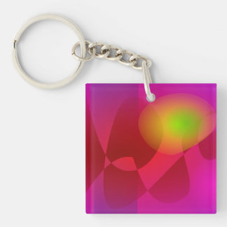 Gentle Green Eye Double-Sided Square Acrylic Keychain