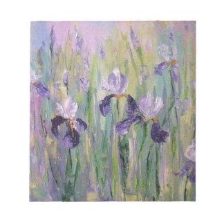 Gentle irises notepad