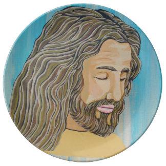 Gentle Jesus Porcelain Plates