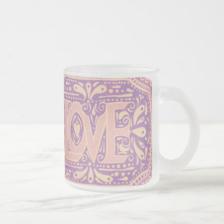 Gentle Love Frosted Glass Coffee Mug