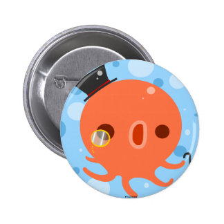 Gentle Octopus 2 Inch Round Button
