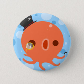 Gentle Octopus Pinback Button