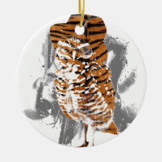 gentle-owl ceramic ornament