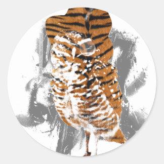 gentle-owl classic round sticker