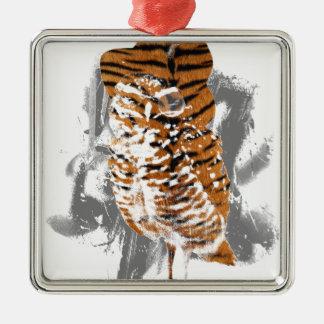 gentle-owl metal ornament