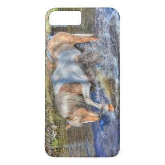 Gentle Palomino Pinto Stallion Playing in Pond iPhone 7 Plus Case
