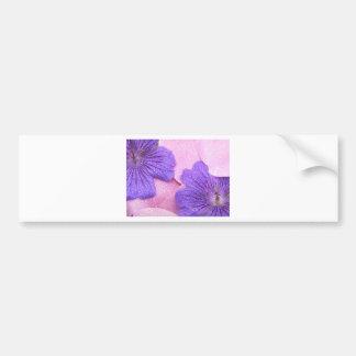 Gentle Pink Petals Mix Purple Flowers Dew Dropped Bumper Sticker