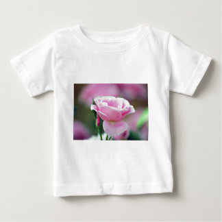 Gentle pink rose and rose buds t shirt