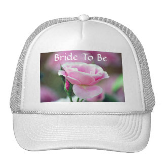 Gentle pink rose and rose buds trucker hat