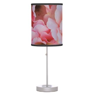 Gentle Pink Rose Blooms - Flower photography Desk Lamp