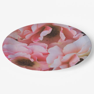 Gentle Pink Rose Blooms - Flower photography Paper Plate
