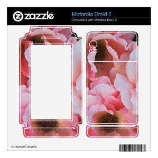 Gentle Pink Rose Blooms - Flower photography Skin For Motorola Droid 2